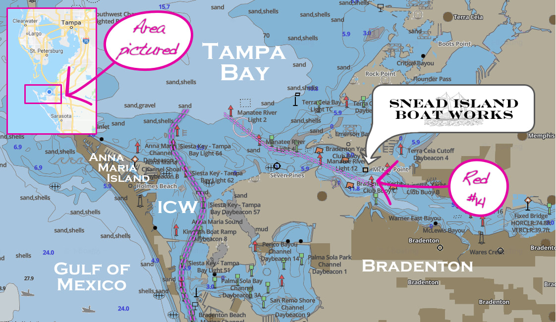 Map to Snead Island Boat Works